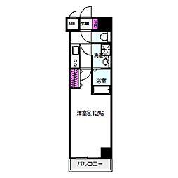 サムティ桜ノ宮レジデンス 2階1Kの間取り