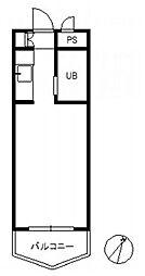 ロマネスク大濠第5[502号室]の間取り