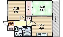 大阪府和泉市伏屋町3丁目の賃貸マンションの間取り