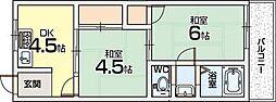山之手ハイツ[2階]の間取り