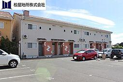 愛知県豊橋市上野町字上ノ山の賃貸アパートの外観