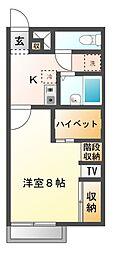 愛知県岡崎市丸山町字ハサマの賃貸アパートの間取り