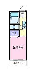 大阪府松原市上田2丁目の賃貸アパートの間取り