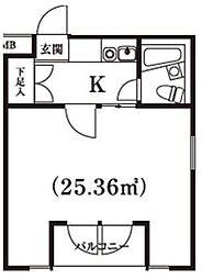 エバグリーン宿河原[1階]の間取り