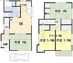 [一戸建] 東京都東村山市富士見町1丁目 の賃貸【/】の間取り