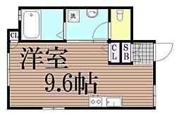 東京都大田区仲六郷4丁目の賃貸アパートの間取り