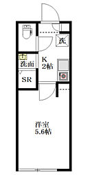 THE ROOM'S中野本町 1階1Kの間取り