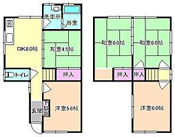 [一戸建] 大阪府枚方市香里ケ丘11丁目 の賃貸【/】の間取り