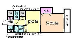 ヴィ・ファイン[2階]の間取り