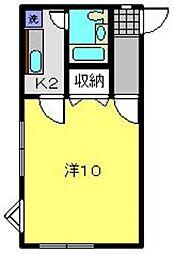 ハウス岡沢No.2[203号室]の間取り