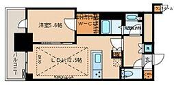 文京ガーデン ザ サウス 13階1LDKの間取り