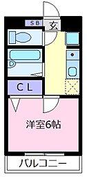 Rinon恵我之荘[3階]の間取り