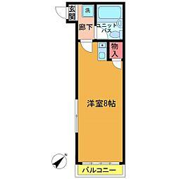ディアコート菅野[201号室]の間取り