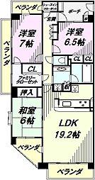 埼玉県所沢市小手指南4丁目の賃貸マンションの間取り