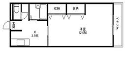 アットホーム石田[1階]の間取り