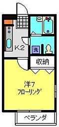 アバンス羽沢第3[201号室]の間取り