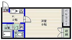 ルネッサンス姪浜[402号室]の間取り