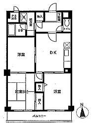 KDX武蔵中原レジデンス[3階]の間取り