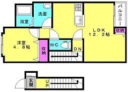 仮)東二見新築アパート[2階]の間取り