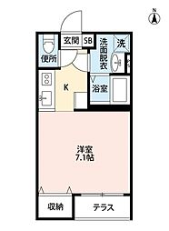 フォレスティ検見川[2階]の間取り