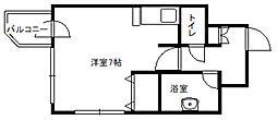 レクセル札幌平岸[2階]の間取り