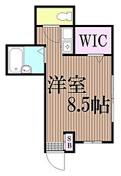 東京都大田区西蒲田3丁目の賃貸アパートの間取り