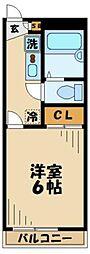 京王相模原線 京王永山駅 徒歩9分の賃貸マンション 1階1Kの間取り