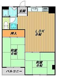 久保田マンション[5階]の間取り