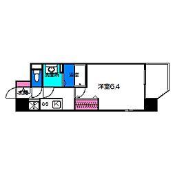 レオンコンフォート京橋 7階1Kの間取り