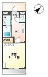 サンライズ桜[2階]の間取り