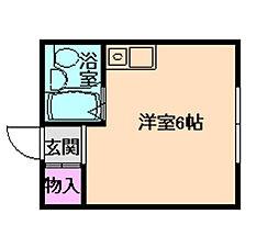 ABA西九条[4階]の間取り