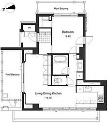 アパートメンツ南麻布II[12階]の間取り