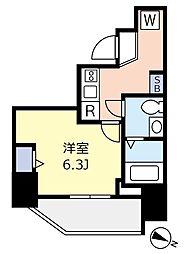 ランヴィ文京千駄木 9階1Kの間取り