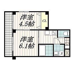 ガーデンヒルズマンション[2階]の間取り