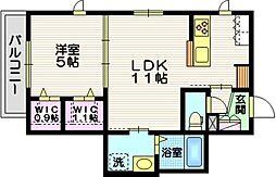JR東海道本線 藤沢駅 徒歩11分の賃貸マンション 3階1LDKの間取り