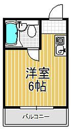 サニーマンション[4階]の間取り