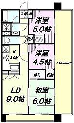 東京都八王子市元横山町2丁目の賃貸マンションの間取り