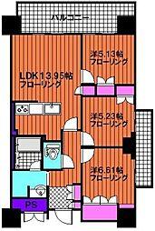 プライムメゾン照葉[8階]の間取り