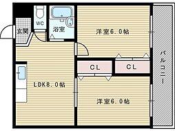 サンサーラ新大阪[3階]の間取り
