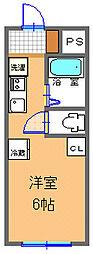 東武伊勢崎線 剛志駅 4kmの賃貸アパート 3階1Kの間取り