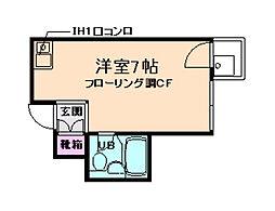 グローバル箕面[3階]の間取り
