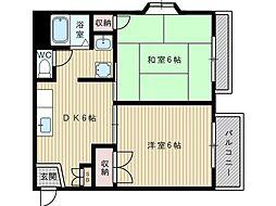 大阪府吹田市片山町4丁目の賃貸アパートの間取り