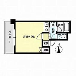 メゾン那珂川[6階]の間取り