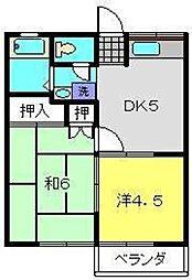 コーポフェニックスA[1階]の間取り
