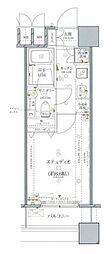 ファーストリアルタワー新宿(旧 アクス・ザ・タワー新宿) 17階1Kの間取り