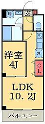 JR総武線 稲毛駅 徒歩15分の賃貸マンション 1階1LDKの間取り
