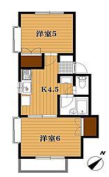 ストークヴィラ上本郷3号棟[1階]の間取り
