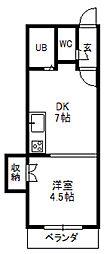 アラン札幌イースト[305号室]の間取り