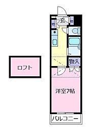 ロフティ北花田[3階]の間取り