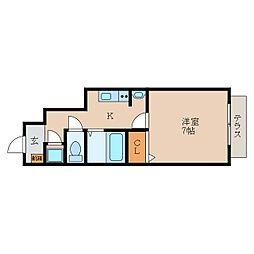 滋賀県守山市浮気町の賃貸アパートの間取り